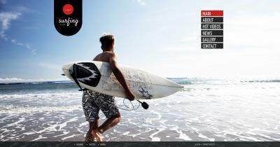 Plantilla Moto CMS HTML #48210 para Sitio de  para Sitio de Surf