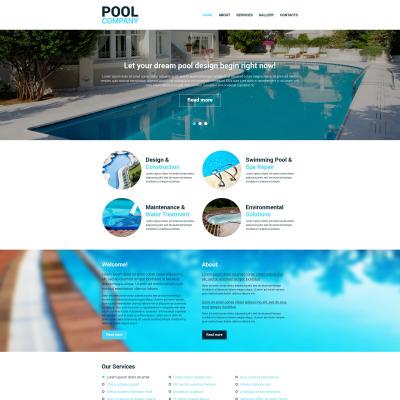 Swimming Pool Website Design httpwwwroedersk Pool Cleaning Website Templates Templatemonster