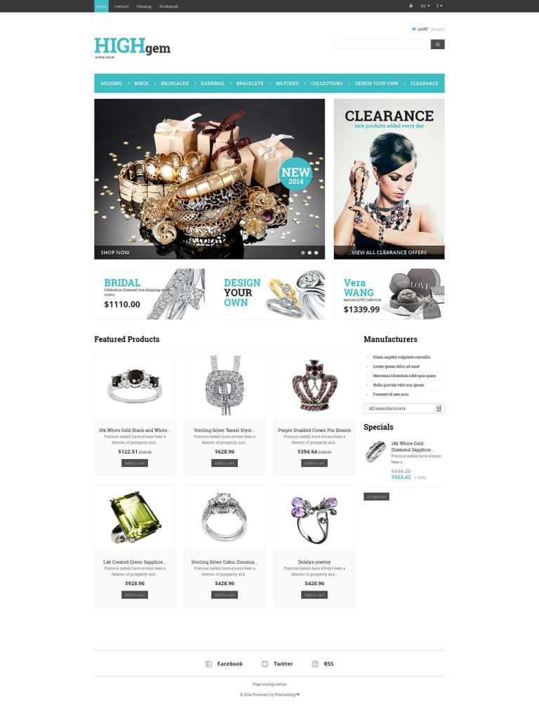 Premium Quality Jewelry PrestaShop Theme New Screenshots BIG