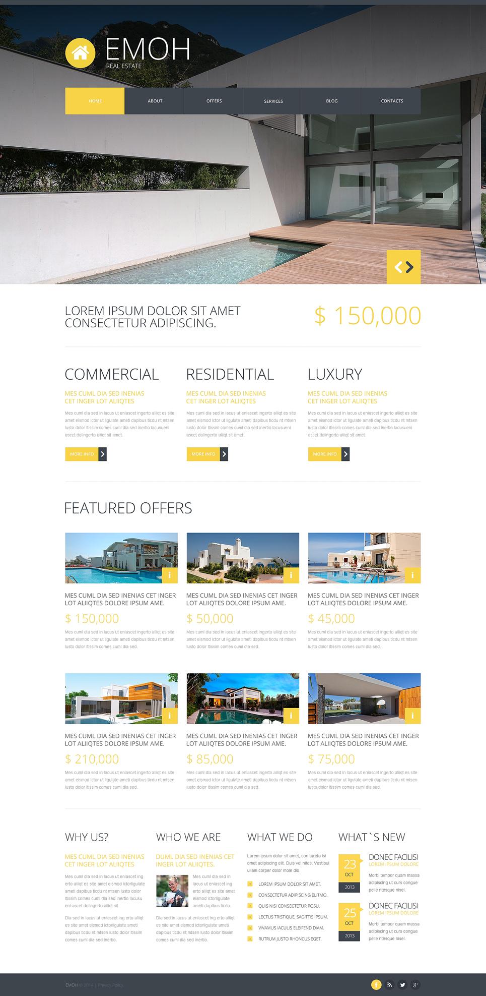 real estate agency joomla template 48259. Black Bedroom Furniture Sets. Home Design Ideas