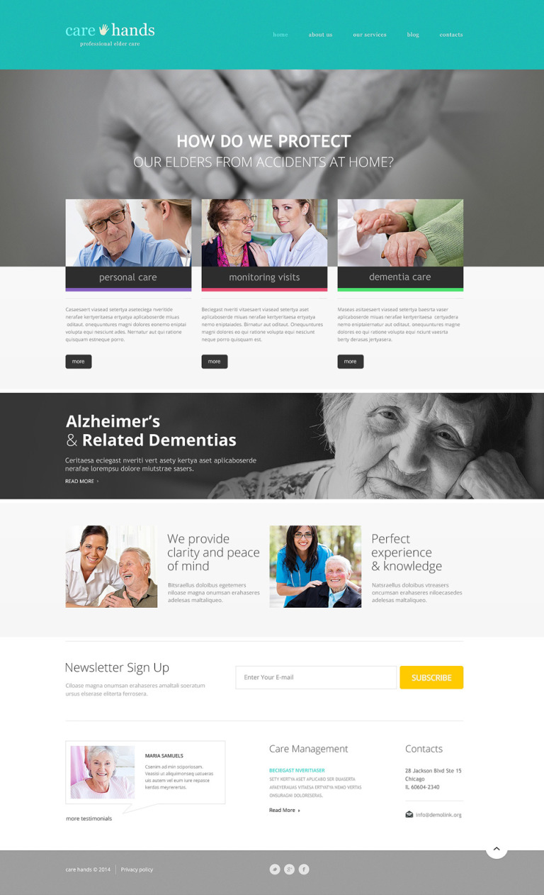 Rehabilitation Responsive WordPress Theme New Screenshots BIG