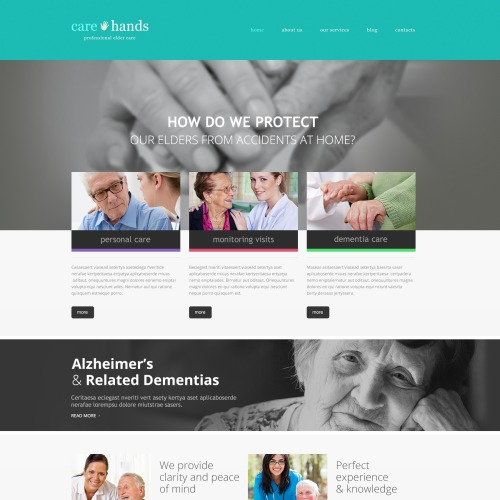 Care Hands - Rehabilitation WordPress Template based on Bootstrap
