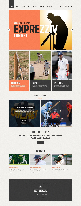 Responsive Website template over Cricket №48223