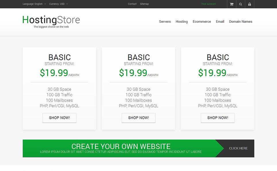 Responsywny szablon PrestaShop Sklep hostingu #48239 New Screenshots BIG