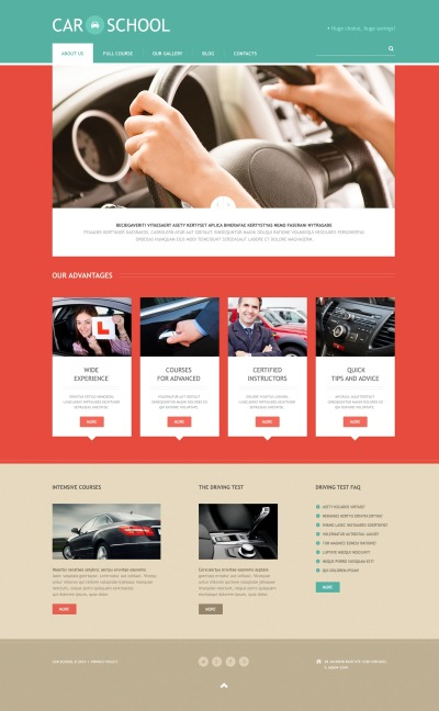 Traffic School Responsive WordPress Sablon