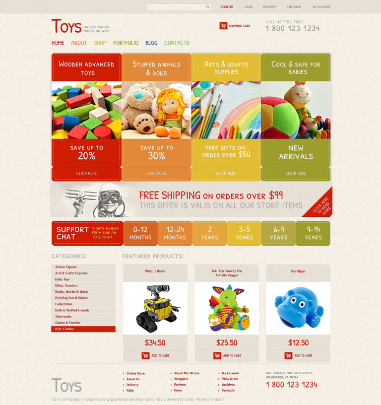 Safe Toys WooCommerce Theme New Screenshots BIG