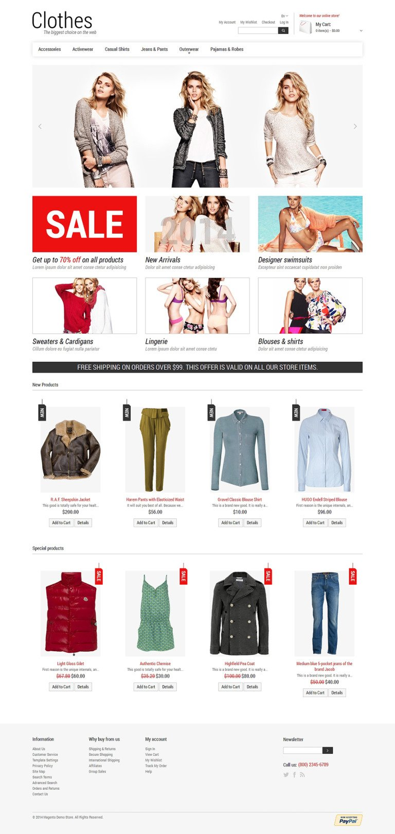 Smart Casual Magento Theme New Screenshots BIG