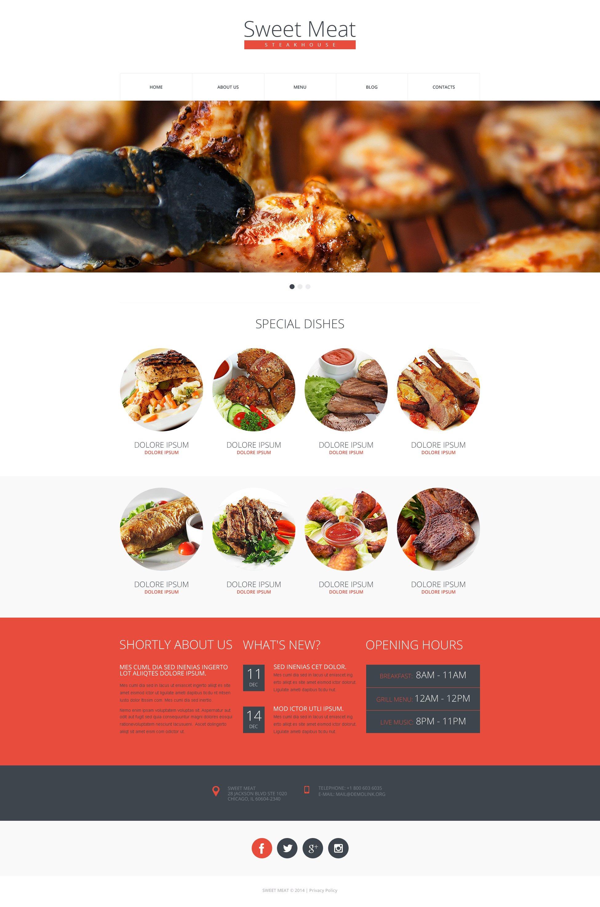 Steakhouse Responsive Website Template