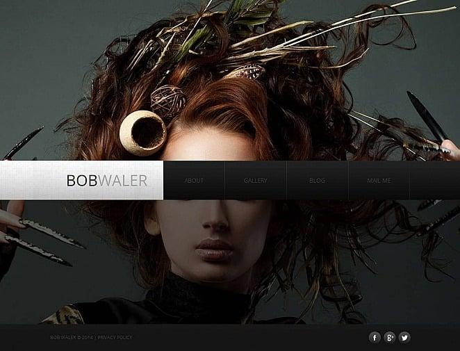 Szablon Moto CMS HTML #48204 na temat: portfolio fotograficzne New Screenshots BIG