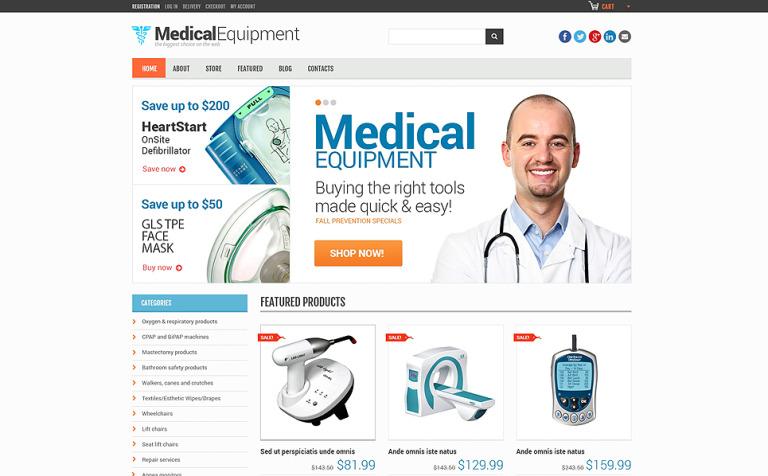 Tema WooCommerce #48297 para Sitio de Equipos médicos