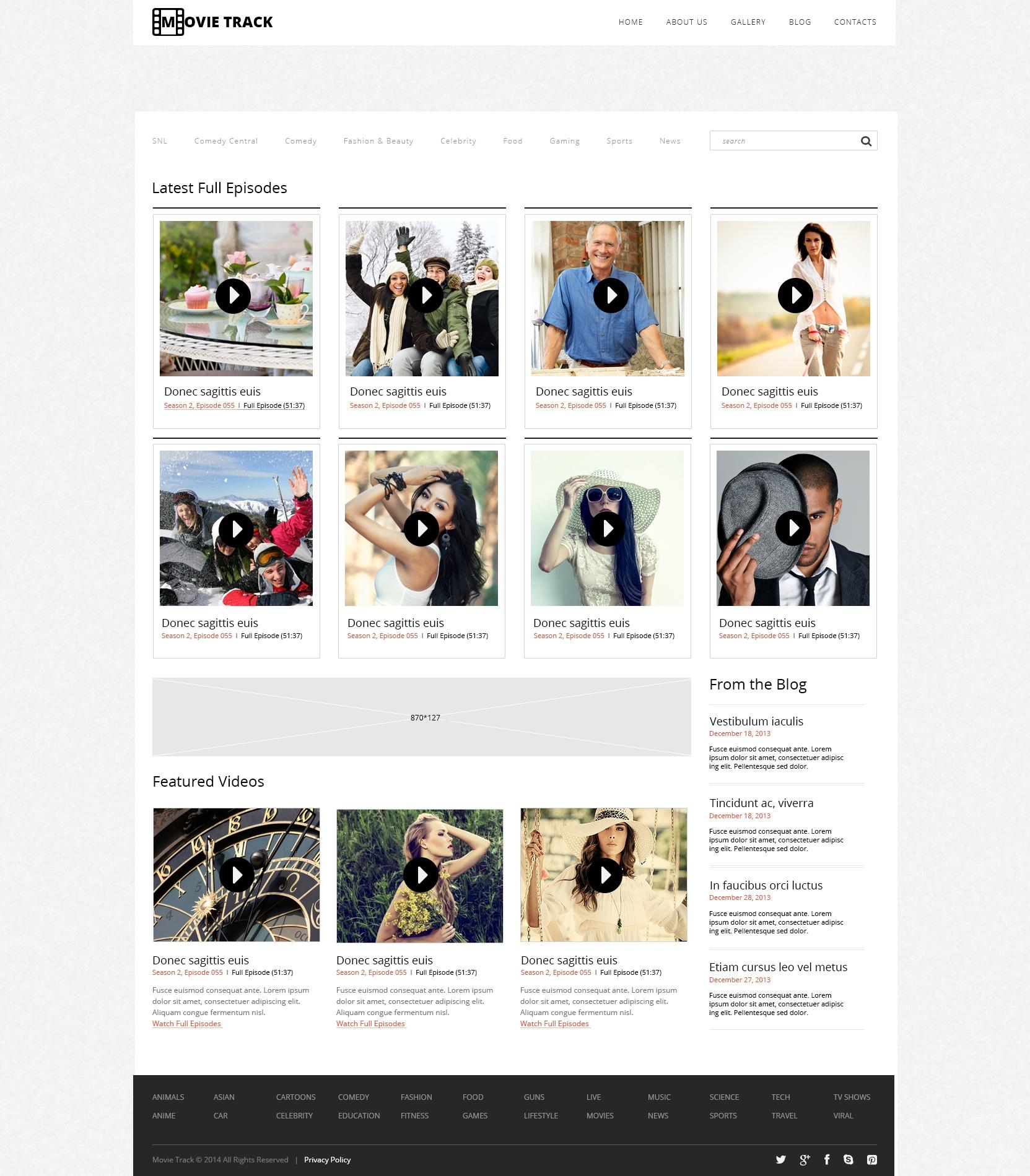 Tema WordPress Flexível para Sites de Galeria de Vídeos №48249