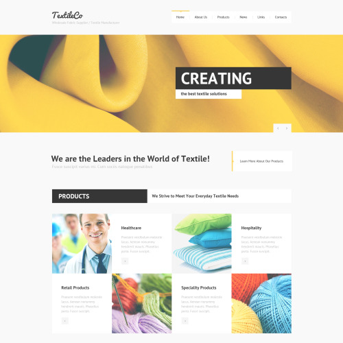 Textile Co - Joomla! Template based on Bootstrap