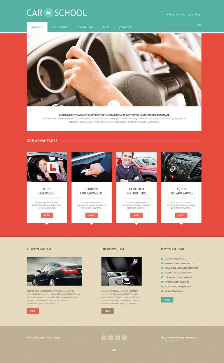 Traffic School Responsive WordPress Theme New Screenshots BIG