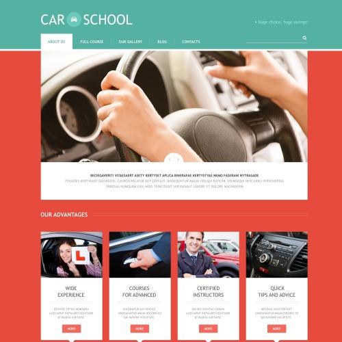 Car School - WordPress Template based on Bootstrap