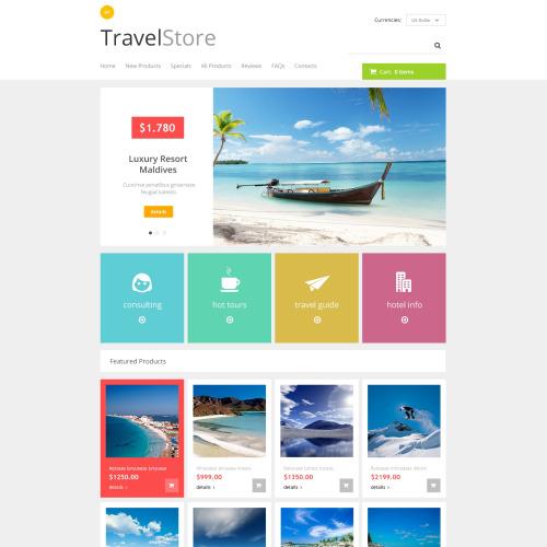Travel Store - HTML5 ZenCart Travel Agency Template