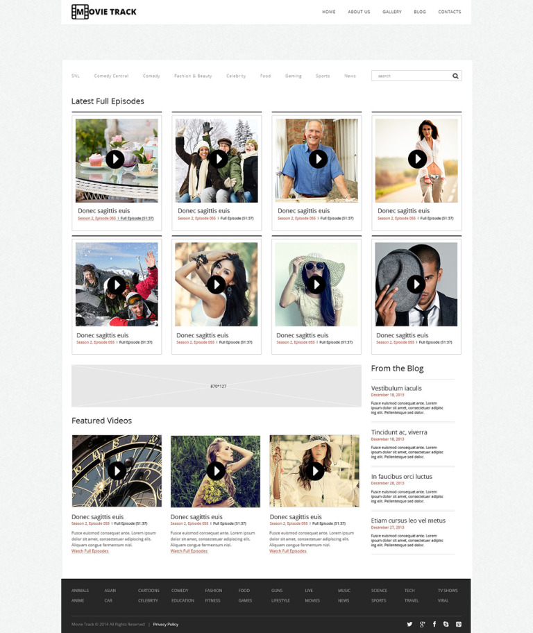Videographer Responsive WordPress Theme New Screenshots BIG
