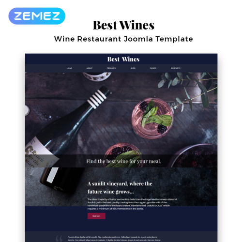 Best Wines - Joomla! Template based on Bootstrap
