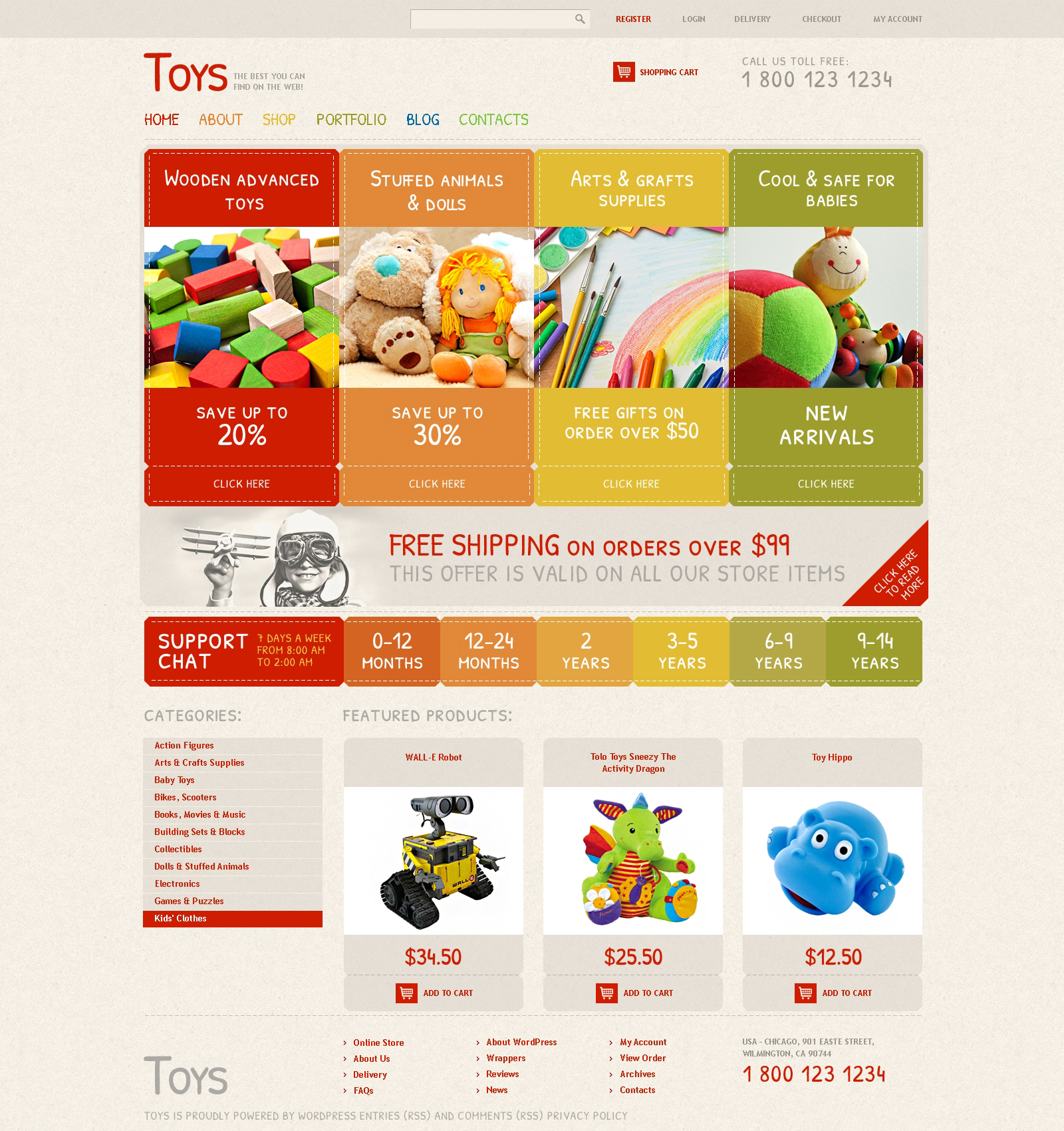 "WooCommerce Theme namens ""Safe Toys"" #48298 - Screenshot"
