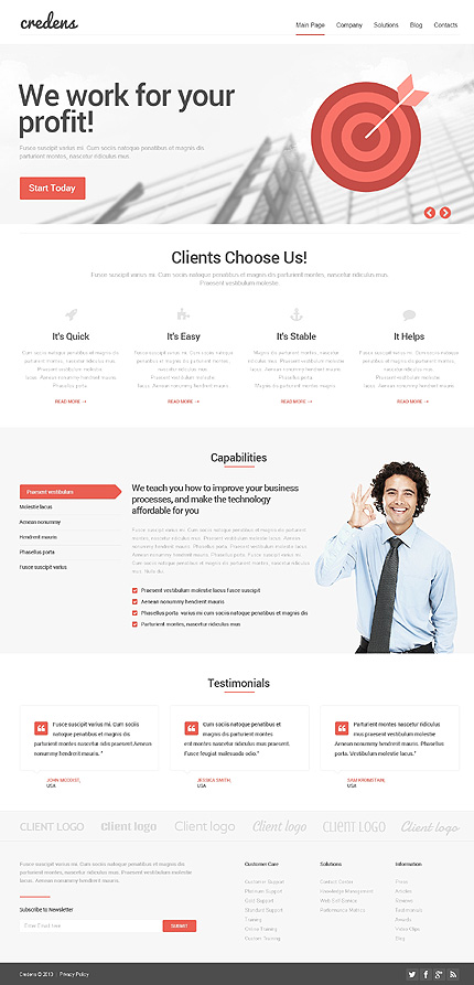 WordPress Theme/Template 48302 Main Page Screenshot
