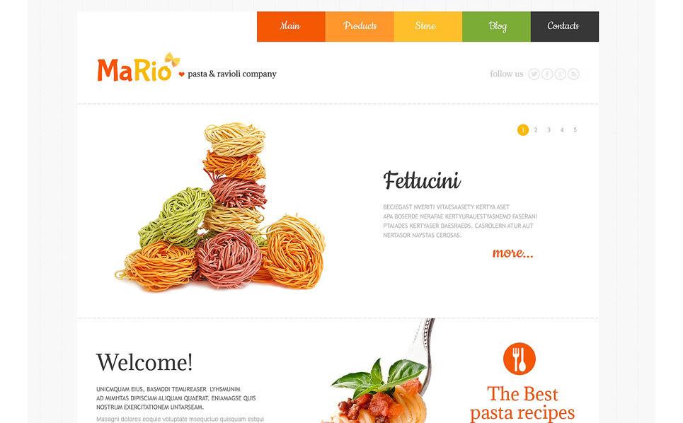 Tema WordPress para Sites de Restaurante Italiano №48303 New Screenshots BIG