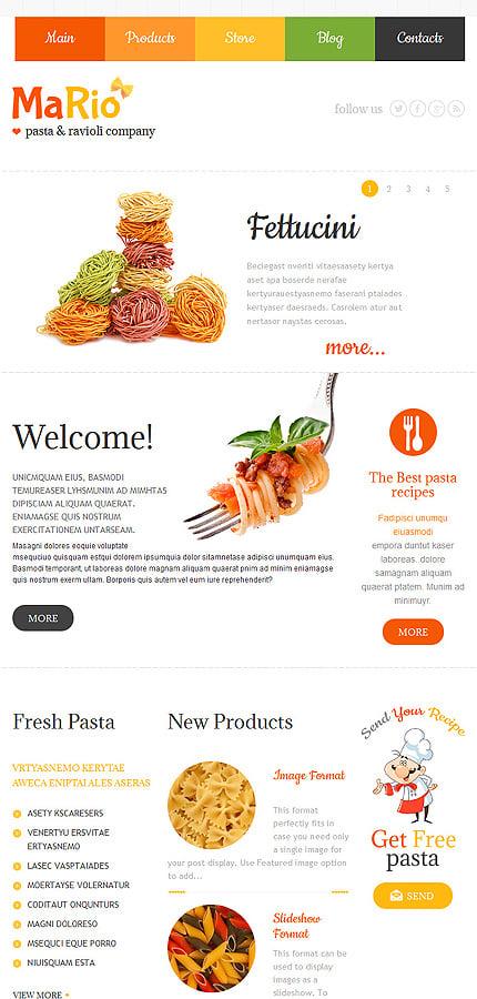 WordPress Theme/Template 48303 Main Page Screenshot