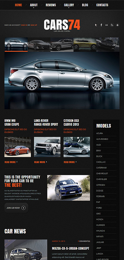 WordPress Theme/Template 48304 Main Page Screenshot