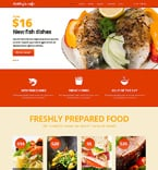 Cafe & Restaurant Joomla  Template 48309