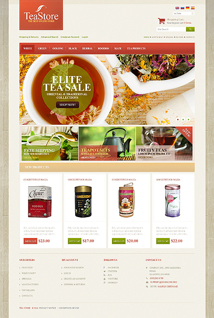 osCommerce Template 48310 Main Page Screenshot