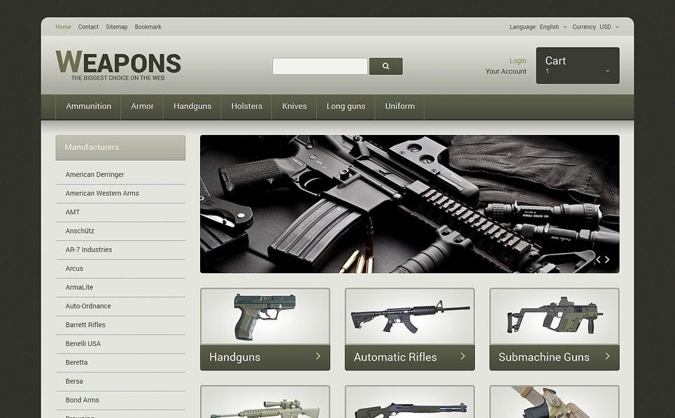 Responsywny szablon PrestaShop #48317 na temat: sklep z bronią New Screenshots BIG