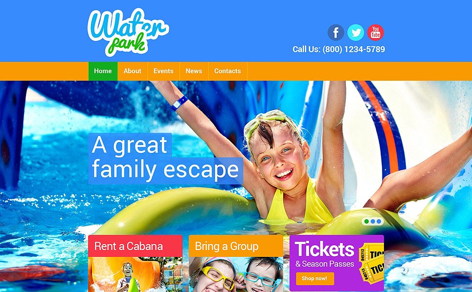 Responsive Website template over Pretpark  New Screenshots BIG