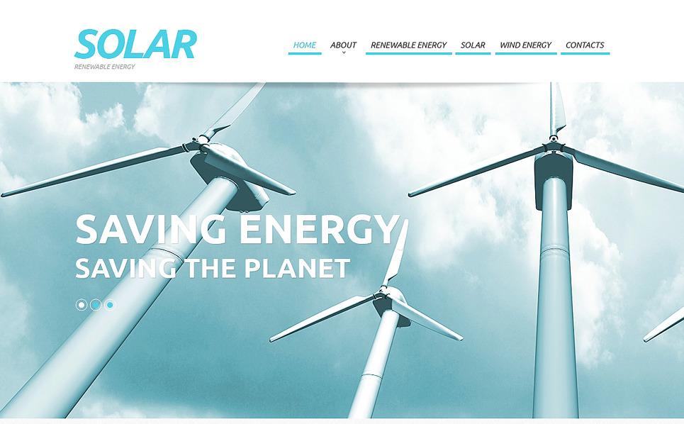 Responsive Website Vorlage für Solarenergie  New Screenshots BIG
