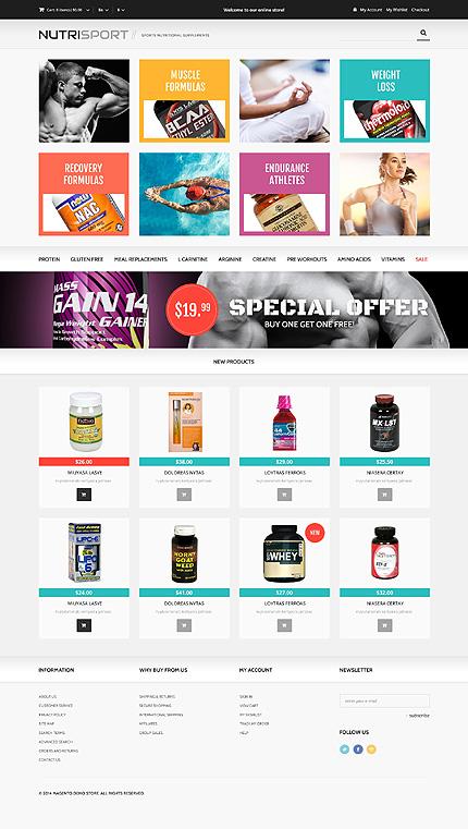 Magento Theme/Template 48335 Main Page Screenshot