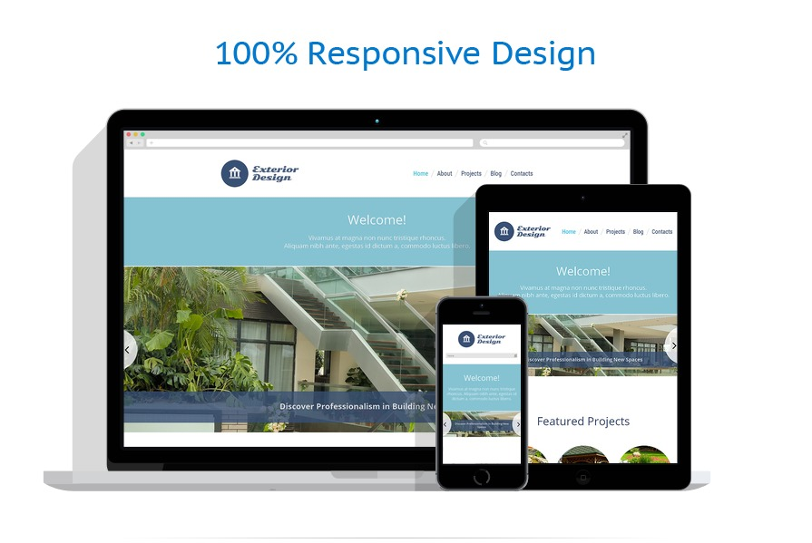 Exterior design wordpress theme 48338 for Exterior design templates