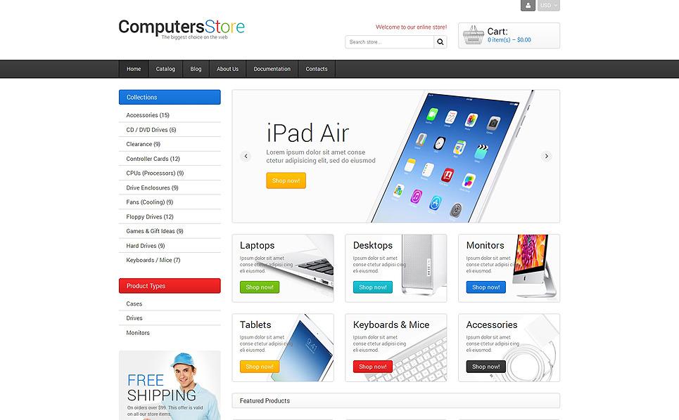 Responsywny szablon Shopify #48357 na temat: sklep komputerowy New Screenshots BIG