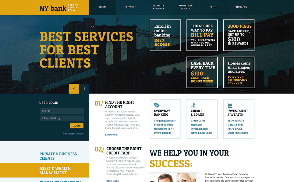WPML Ready WordPress motiv na téma Banka New Screenshots BIG