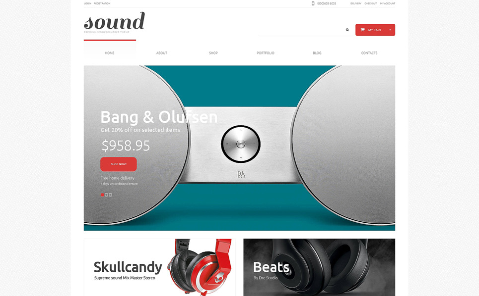Responsive WooCommercie Thema over Audio Winkel  New Screenshots BIG