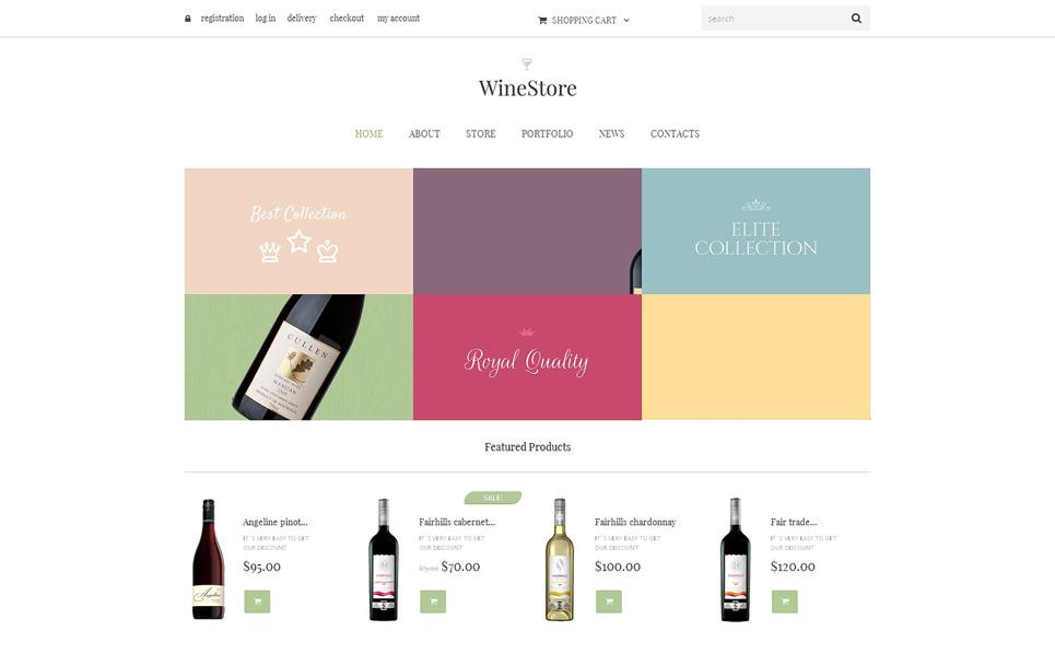Адаптивний WooCommerce шаблон на тему вино New Screenshots BIG