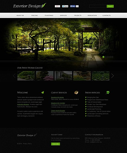 ADOBE Photoshop Template 48367 Home Page Screenshot