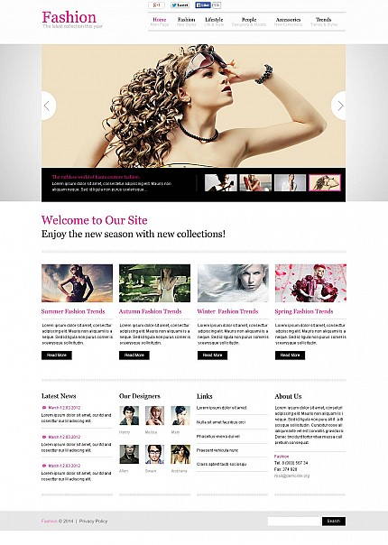 ADOBE Photoshop Template 48370 Home Page Screenshot