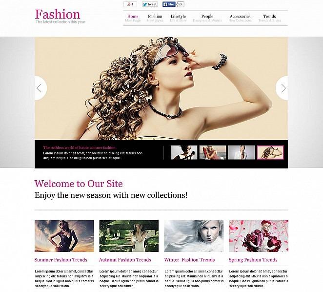 Modèle Flash CMS  pour fashion blog  New Screenshots BIG