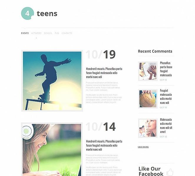 MotoCMS HTML шаблон на тему підліткові клуби New Screenshots BIG