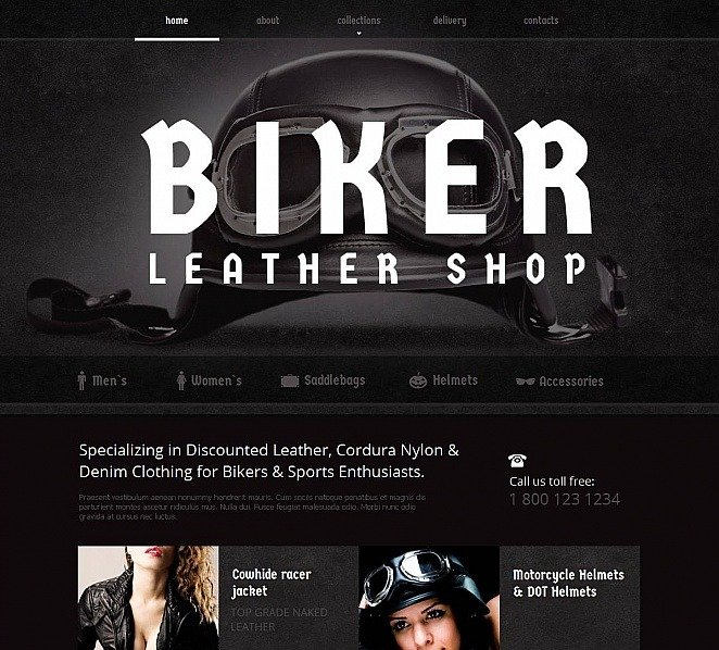 Moto CMS HTML Vorlage für Bikerclub  New Screenshots BIG