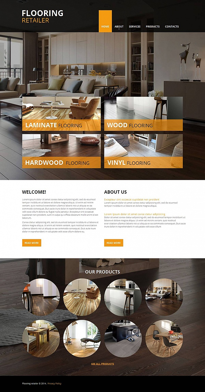 Flooring Website Template with Creative Design - image
