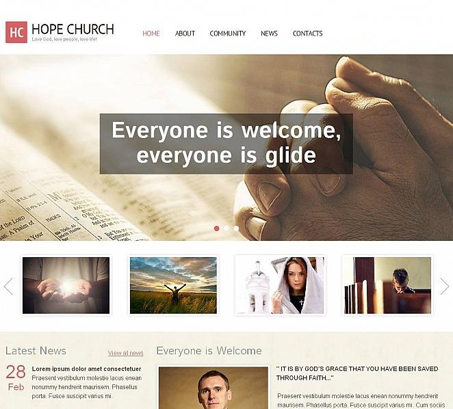 MotoCMS HTML шаблон №48383 на тему христианство New Screenshots BIG