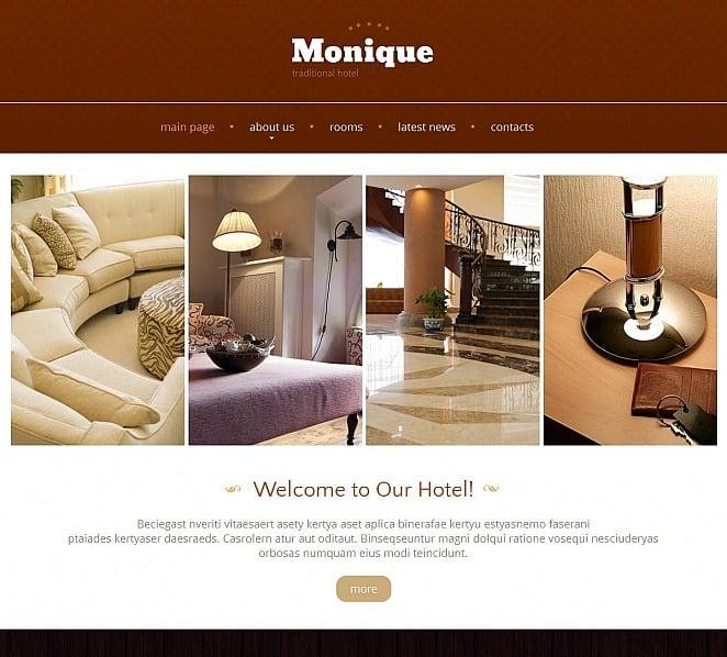 Modello Moto CMS HTML  #48389 per Un Sito di Hotel New Screenshots BIG