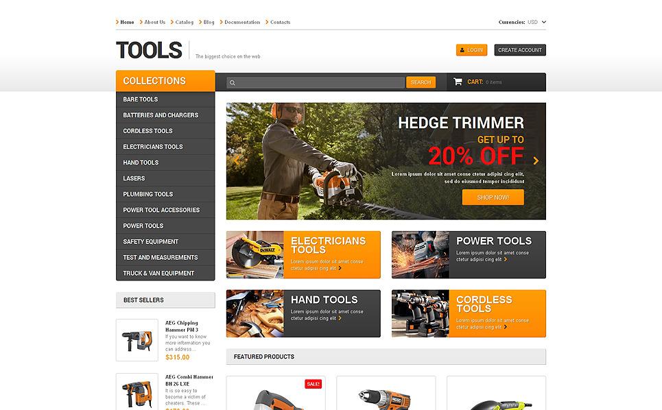 Responsywny szablon Shopify #48392 na temat: narzędzia i urządzenia New Screenshots BIG