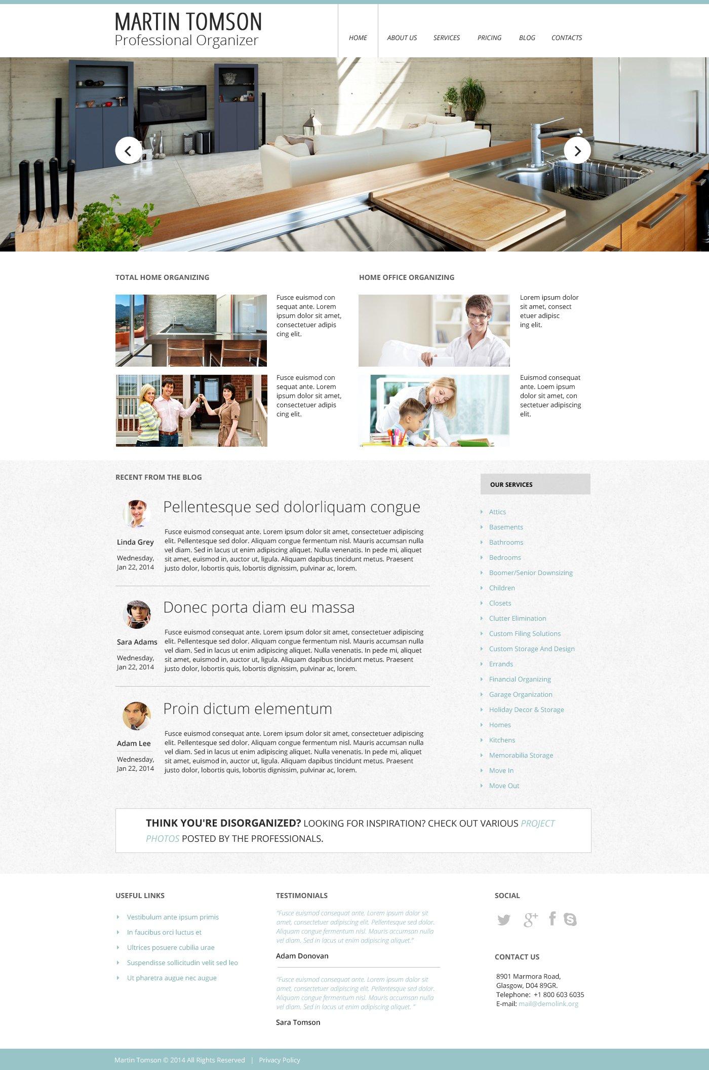 Адаптивний Шаблон сайту на тему внутрішній дизайн №48394 - скріншот