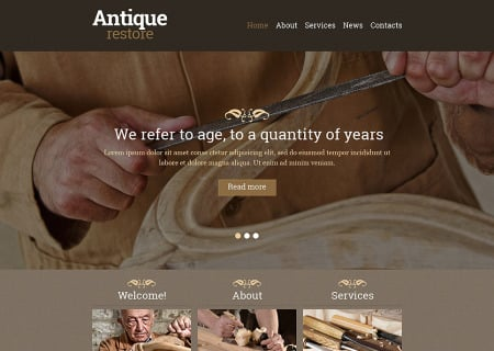 Antique Store Responsive