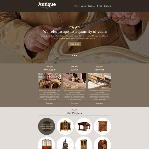 Antique Restore - Responsive Website Template