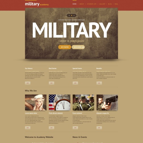 Military - WordPress Template based on Bootstrap